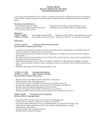 Security Guard Sample Resume by Security Officer Resume Sample Objective Free Resume Example And