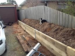 landscaping new retaining wall u0026 garden