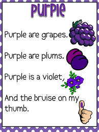 color word poems pdf preschool colors pinterest poem