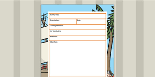 themed editable eyfs led carpet based activity plan