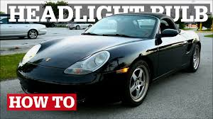 Porsche Boxster 911 - porsche boxster u0026 996 headlight bulb replacement youtube