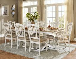 Distressed Black Dining Table Hollyhock Distressed White Dining Room Set From Homelegance 5123