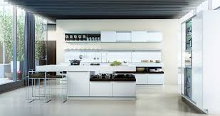 contemporary island kitchen contemporary kitchen wood veneer island lacquered hide and