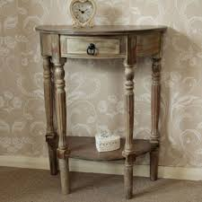 half table for kitchen dark wooden limed half moon demi lune side l hall telephone table