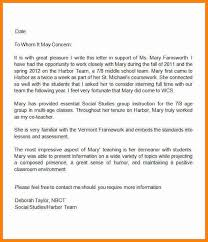 us history teacher letter of recommendationteacher letter of