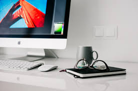 free images laptop desk writing apple working technology