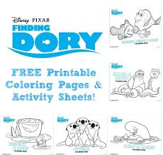 free printables finding dory coloring pages activity sheets