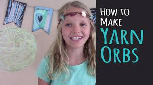 kids crafts u2013 how to make yarn orbs u2013 diy room u0026 party decor youtube
