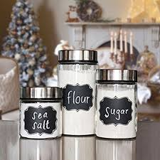 kitchen canisters online amazon com native spring chalkboard labels 40 premium waterproof
