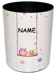 schaukel kinderzimmer papierkorb behälter eulen auf schaukel incl name aus
