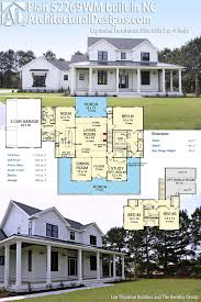 farmhouse plans with basement plan 52269wm expanded farmhouse plan with 3 or 4 beds modern