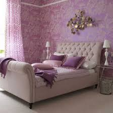 Bedroom Ideas With A Sleigh Bed Chic Purple Bedroom Decor Ideas With Nice Bedside Tables Cncloans