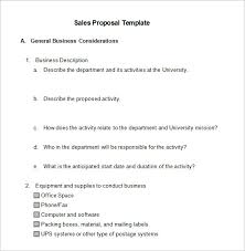 sample word proposal template busines sales proposal template