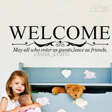 Wall Quotes For Living Room by New Listing Welcome Wall Quotes Stickers 25x84cm Vinyl Wall Art