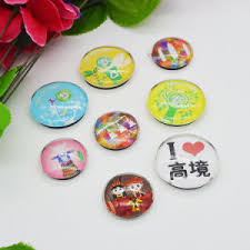 china personalized glass material custom epoxy fridge magnets for