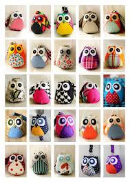 custom medium owl doll with bag plush keychain owl decor kid