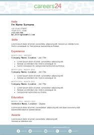 a template of a cv 4 free downloadable cv templates for south african job seekers
