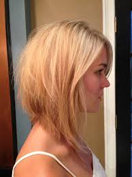 cute shoulder length haircuts longer in front and shorter in back medium length reverse bob haircut