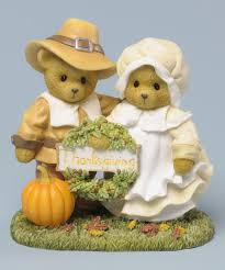 thanksgiving pilgrim statues this cherished teddies thanksgiving pilgrims figurine by