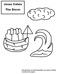 jesus calms the storm sunday lesson with coloring page