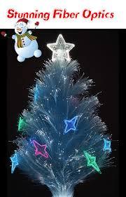 Fibre Optic Slim Christmas Trees - christmas fibre optic trees christmas lights decoration