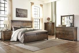 ashley bedroom ashley lakeleigh brown 4 piece king panel bedroom set