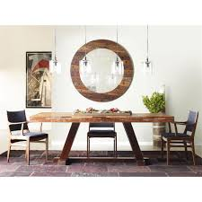 leanna rustic lodge layered salvaged wood dining table kathy kuo