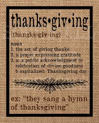 thanksgiving definition printable 3 sizes instant digital