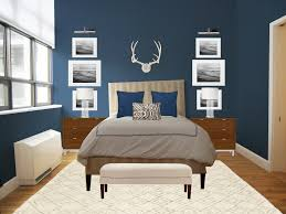Blue Bedroom Color Schemes Grey Bedroom Wall With Picture Frame Combined By White Blue