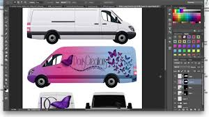 how to make a commercial cargo van car wrap mockup tutorial