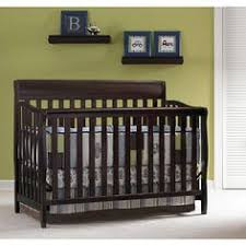 Hton Convertible Crib On Me Ashton Convertible 5 In 1 Crib Black Walmart