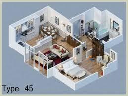 denah rumah minimalis type 45 terbaru taman pinterest