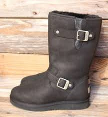 womens ugg motorcycle boots ugg australia womens dree black leather boots us 7 uk