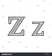 font tattoo engraving letter z shading stock vector 272591660