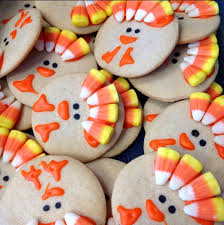 learn how to make turkey cookies with corn these are easy and