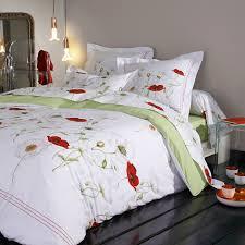 chemin de lit en lin linge de lit percale de coton tradilinge acheter en ligne