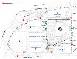 Atlanta Braves Parking Map by Citi Field Queens Ny