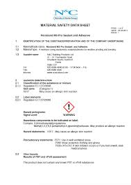 Msds Cover Sheet by Nicholls U0026 Clarke Group Downloads