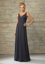 draped v neck luxe chiffon morilee bridesmaid dress style 20454