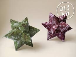 2 printable paper christmas stars easy to make geometric