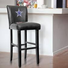 dallas cowboys 30 in black bar stool with faux leather cover set