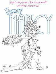 online coloring page fancy nancy pages within pages eson me