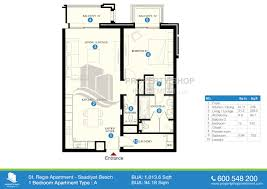 floor plan of st regis apartments saadiyat island