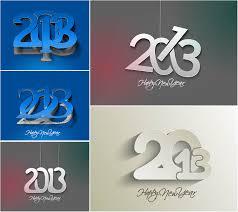 modern new years cards modern new year cards modern 2013 new year inscription vector
