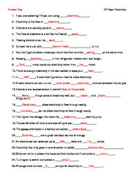 video worksheet movie guide for bill nye electricity by