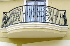 excellent wrought iron balcony railings with black stained wrought