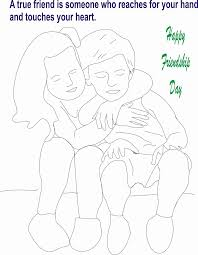 happy friendship day coloring pages for boys u0026 girls coloring home