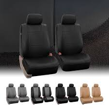 lexus visa pu pu leather bucket seat full set covers for seats with headrests ebay