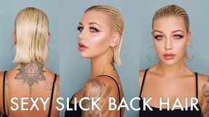 photo of the back of hair with a short bob sexy slicked back hair tutorial youtube