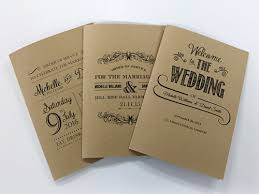 Wedding Booklets Order Of Service Booklet Printing For Weddings Funerals Christenings